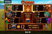 african simba slot screenshot 2