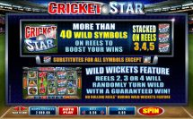 cricket star slot screenshot 2