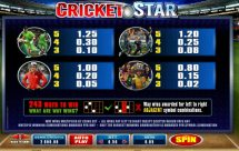 cricket star slot screenshot 4