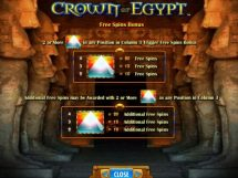 crown of egypt slot screenshot 2
