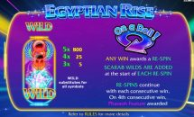 egyptian rise slot screenshot 2
