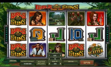Girls With Guns: Jungle Heat slot screenshot 1