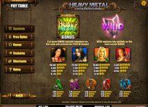 heavy metal warriors slot screenshot 2