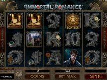 immortal romance slot screenshot 1