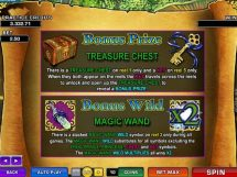 magic charms slot Paytable bonus info