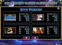moon warriors slot screenshot 2