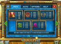queen of riches slot screenshot 2