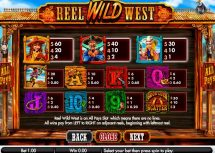 reel wild west slot screenshot 2