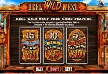 reel wild west slot screenshot 3