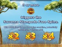 savanna king slot screenshot 3
