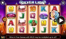 silver lion slot screenshot 1