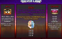 silver lion slot screenshot 2