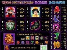 triple fortune dragon slot screenshot 2