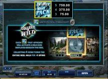 untamed wolf pack slot screenshot 2