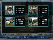 untamed wolf pack slot screenshot 4