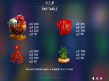 year of the rooster slot screenshot 2