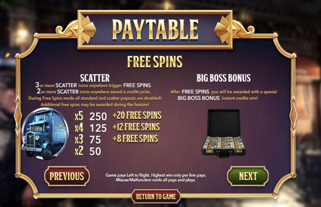The Slotfather Part II Slot Machine - Play Online for Free