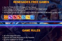 renegades slot screenshot 4