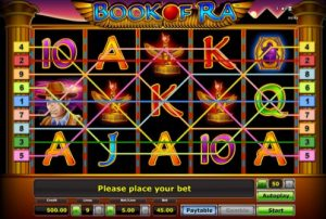 book of ra slot payline example