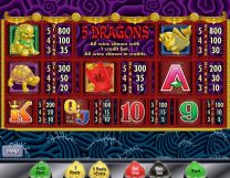 5 dragons slot screenshot 2