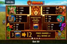 african simba slot screenshot 2