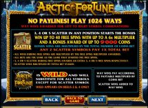 arctic fortune slot screenshot 2