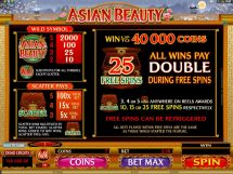 asian beauty slot screenshot 3