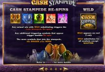cash stampede slot screenshot 2
