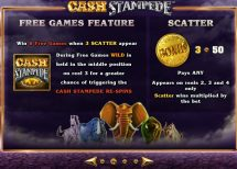 cash stampede slot screenshot 3