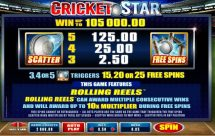 cricket star slot screenshot 3