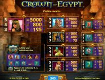 crown of egypt slot screenshot 3
