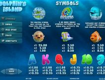dolphins island slot screenshot 2