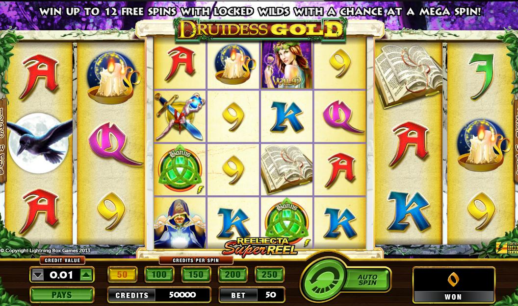 Druidess gold lightning box slot game Çayeli