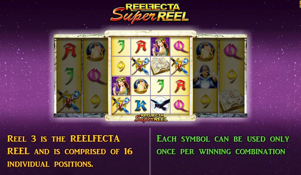 Druidess Gold is a five-reel Lightning Box slot but at first glance looks like an eight reel, which is what makes this game unique! The middle reel has four columns and is called a reelfecta reel.There are 16 boxes in a 4x4 grid configuration.