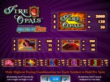 fire opals slot screenshot 2