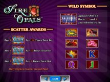 fire opals slot screenshot 3
