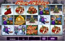 happy holidays slot screenshot 1
