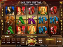 heavy metal warriors slot screenshot 1