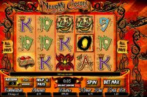 noughty crosses slot screenshot 1