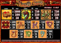noughty crosses slot screenshot 3