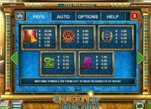 queen of riches slot screenshot 2