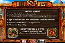 reel wild west slot screenshot 4