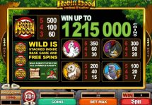 robin hood feathers of fortune slot screenshot 2