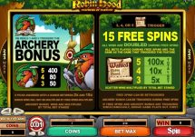 robin hood feathers of fortune slot screenshot 3