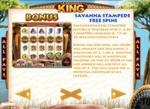savanna king slot screenshot 4