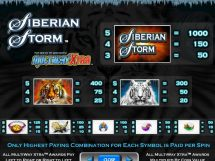 siberian storm slot screenshot 2