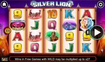 silver lion slot screenshot 1