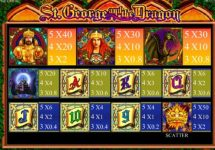 st george and the dragon slot screenshot 4
