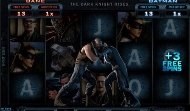 The dark knight rises slot machine