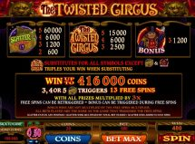 twisted circus slot screenshot 3